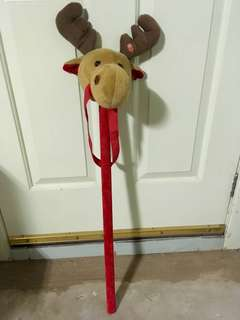 Ride on stick reindeer