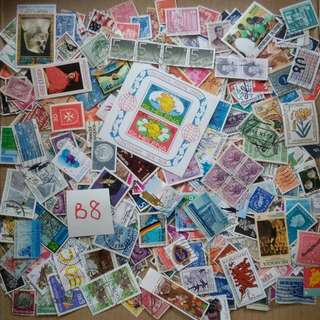 World Mix Stamps 500 pcs lot B8 BL593