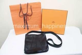 Authentic Hermes Toudou Milo Lambskin Leather Sling Shoulder Bag