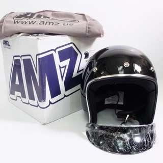 AMZ Vintage Open Face 3/4 Motorcycle Helmet