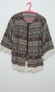 Batik Shirt Black All Size (Include Black Inner)