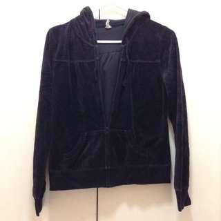 Old navy black velvet jacket