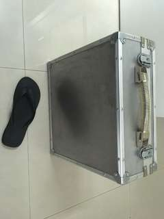 Sturdy metal camera case with padding