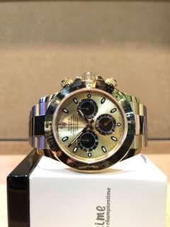Authentic Rolex Oyster Daytona 116508 Champagne Gold Dial Automatic Yellow Gold Bracelet ( LNIB )