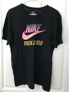 Black Nike Track and Field Tee