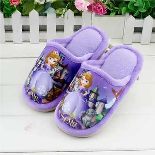 [Juniorcloset] 🆕 Sofia the first bedroom slipper plush anti-slip (Size 30-31; Approx 5-6Y)