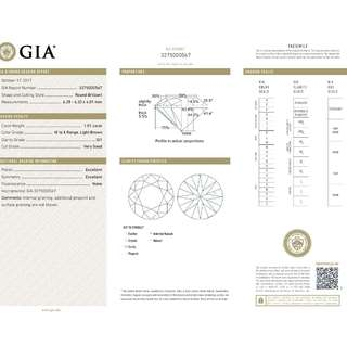 GIA 認證 1.01CT  M color SI1 鑽石