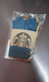 Starbucks exclusive gold members luggage tag