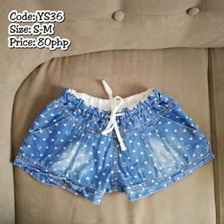 DENIM SHORTS (SMALL TO MEDIUM SIZE)