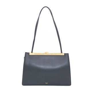 (NEW) CELINE 184703 ASG SOFT CLASP LAMBSKIN SHOULDER BAG GBHW 全新 手袋 黑色 金扣