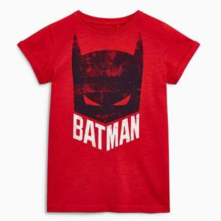 LM043 Boys Red Batman Tee T-shirt Top