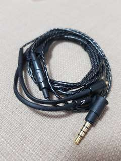 Mmcx mic replacement cable for shure westone etc