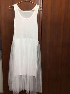 miustar拼接紗裙連身洋裝
