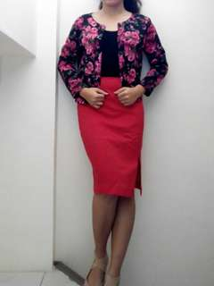 Pencil skirt and blazer