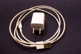 Apple iPhone Lightning Cable/Chord and Adaptor