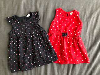 2 sets of Miki baby dress