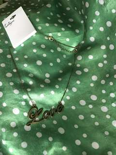 全新 韓國新款  古銅色❤️ LOVE 💕 英文字母 鐵牌頸鏈 首飾款sw