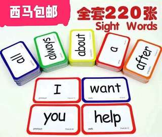 Flash Cards with 220pcs (both side words)