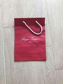 Roger vivier paper bag