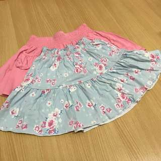 Blue skirt mother care