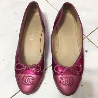 Authentic Chanel Bicolor Ballet Shoes