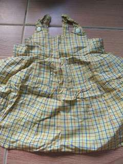 Checkered yellow dress perfect for summer