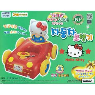 (Free Delivery) Sanrio Hello Kitty Car Shape Inflatable Swimming Baby Float Seat with Steering Wheel