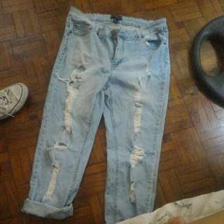 F21 PLUS Size Ripped Jeans
