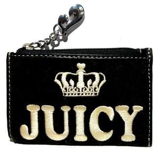 (全新)juicy couture 絲絨 銀包 零錢包 散紙包