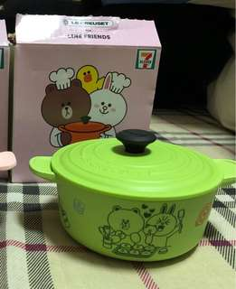 Line Friends x Le creuset container with lid 7-11 cony brown 熊大 全新 儲物盒