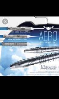 Harrows aero soft tip darts