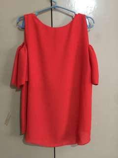 Red orange blouse