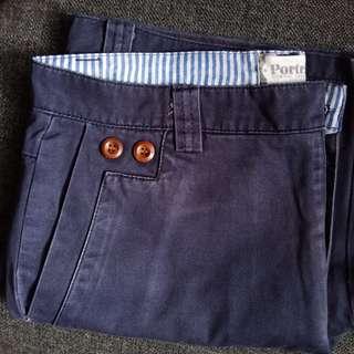 Portrait Classy Blue Casual Chino Shorts