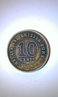 Coin 1960 10 cents M&BB