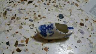 Holland Porcelain Clogs for display