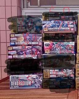高達模型 Gundam HG 1:100 / HG Action Base 透明藍色 (價錢看圖)