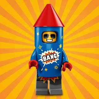 Lego 71021 series 18 ~ Firework Guy 火箭男