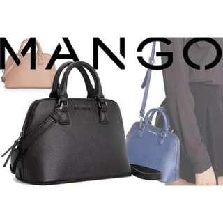 Mango Touch Saffiano Sling