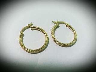 Saudi Gold 18k Earrings (new)