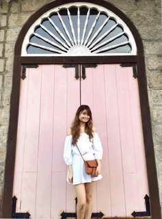 Lola and Daisies White Offshoulder Dress