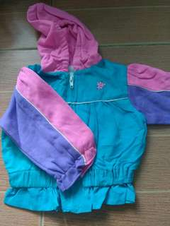 Colorful hooded jacket