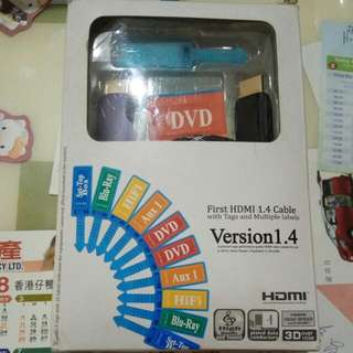 全新HDMI線1.4連Label