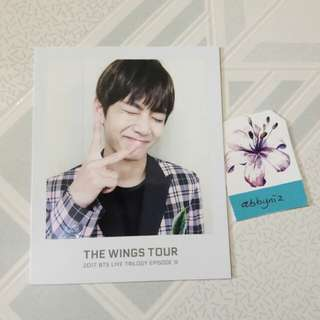 BTS V/Taehyung Wings Tour photo ticket