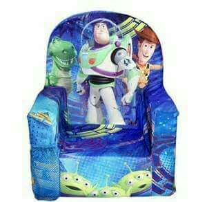Auth TOY STORY Marshmallow Chair Toddler Chair Kiddie Chair Kids Room Disney Woody Buzz