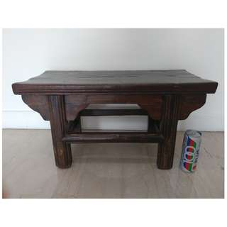 Antique Old Wooden Stool Table