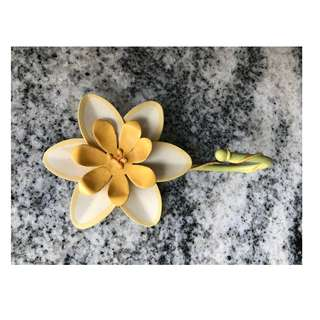 Vintage painted metal flower hook
