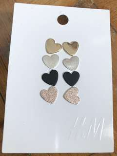 Brand New Auth H&M 4-pc Earrings Set