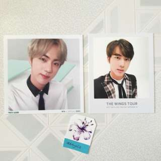 BTS Jin 3rd Muster photo & Wings Tour photo ticket