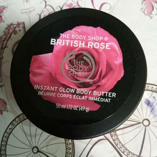 Free Ongkir! The body shop british rose instant glow body butter