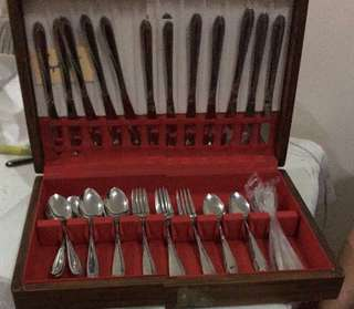 Stainless steel japan cutleries set